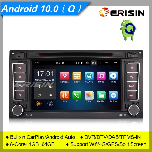 "4+64GB PX5 8 Core DSP Android 10.0 For VW Touareg T5 Autoradio Car DVD GPS DAB+ CarPlay TNT DVR TPMS OBD Bluetooth 7"" Erisin ES8156T"
