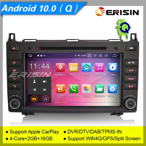 "2+16GB PX30 Android 10.0 Autoradio Mercedes Benz Classe A Classe B W169 W245 W639 Sprinter Viano VW Crafter CarPlay DAB+ DTV TPMS 8"" Erisn ES5121B"