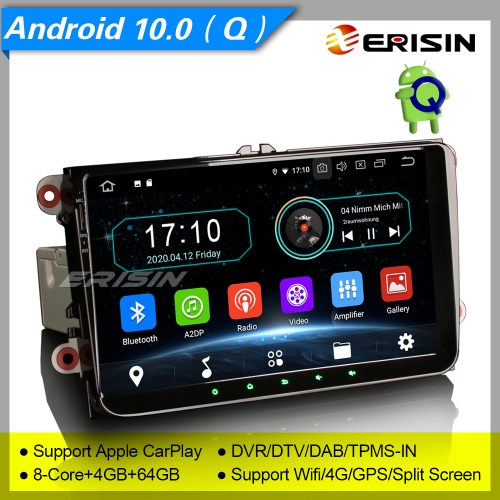 "4+64G PX5 Android 10.0 Autoradio For VW Superb Seat Golf Polo Yeti Skoda Passat Touran Tiguan DAB+ TNT GPS DVR TPMS BT 4G 9"" Erisin ES6991V"
