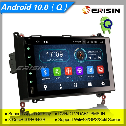 "4+64GB PX5 Android 10.0 Autoradio Mercedes Benz W639 Viano W169 W245 A B Class VW Crafter DVR GPS DAB+ CarPlay DTV GPS DVR TPMS BT 9"" Erisin ES6992B"