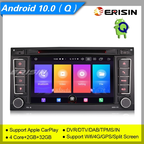 "2+32GB 4 Core Android 10.0 For VW Touareg T5 Autoradio Car DVD GPS DAB+ CarPlay DVR TPMS DTV Bluetooth USB OBD 4G 7"" Erisin ES2756T"
