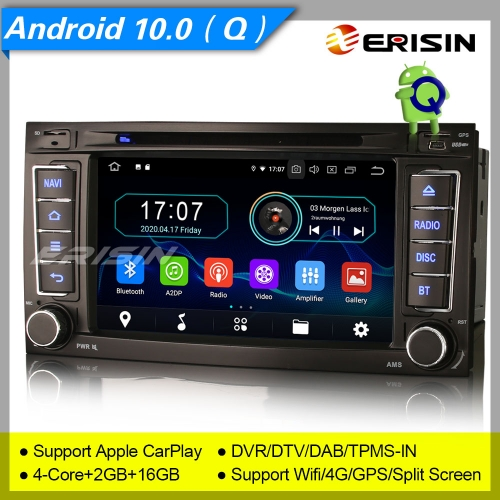"2+16GB PX30 Android 10.0 Autoradio VW TOUAREG T5 Multivan DAB+ DVD TPMS CarPlay TNT Bluetooth GPS DVR OBD 7"" Erisin ES5956T"