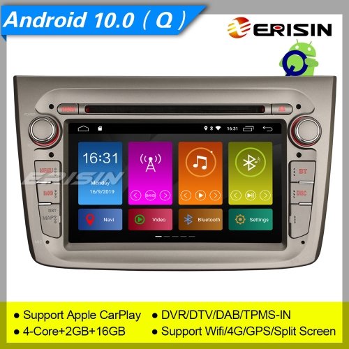 "Erisin ES3030GM SWC GPS Android 10.0 Alfa Romeo Mito Autoradio DAB+OBD TNT CarPlay DSP DVR 7""3030 TPMS OBD II USB CAM Mirror Link 4G CarPlay"